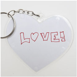 Design Your Own Heart Keychains