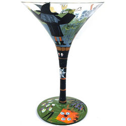 Witches Stew Halloween Martini Glass
