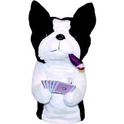 Poker Playing Boston Terrier Golf Headcover