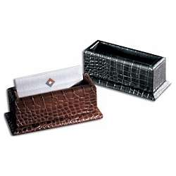 Crocodile Leather Business Card Holder