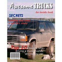 Awesome Trucks Personalized Magazine Cover
