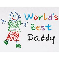 Men's Personalized Children's Drawing World's Best T-Shirt