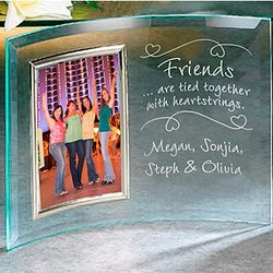 Personalized 3.5x5 Friends Heartstrings Beveled Frame
