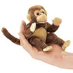 Cocoa the Monkey Finger Puppet