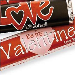 Personalized Be My Valentine Candy Bar Wrappers