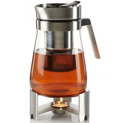 Stainless Steel and Glass Tea Maker with Warmer