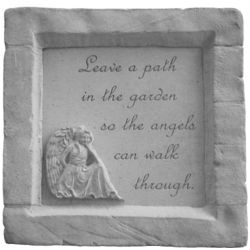 Leave a Path for Angels Framed Sympathy Garden Stone