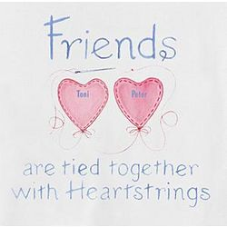 Personalized Sisters or Friends Heartstrings Shirt