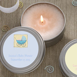 Baby Shower Personalized Candle Tin Favors