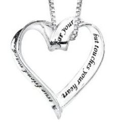 A True Friend Reaches For Your Hand Heart Necklace