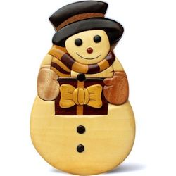 Snowman Secret Wooden Puzzle Box