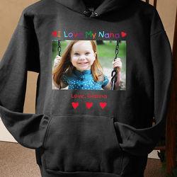 Personalized Photo Message Black Sweatshirt
