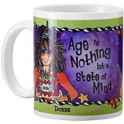 Age is Nothing Ladies Personalized 11-Ounce Mug