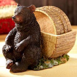 Black Bear Coaster Set