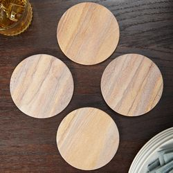 Radiant Sandstone Personalized Drink Coasters