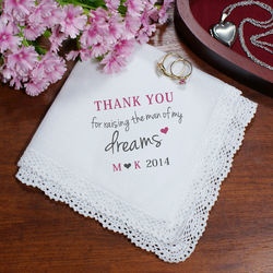 Mother of the Groom Personalized Handkerchief