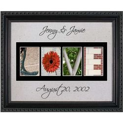 Love Personalized Photography Letter Framed Art Print