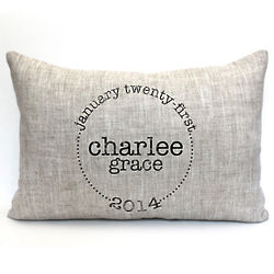 The Charlee Personalized Baby Pillow