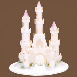 fairy castle wedding cake topper tale castle cake topper findgift 14093