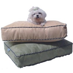 Micro Suede Pillow Dog Bed
