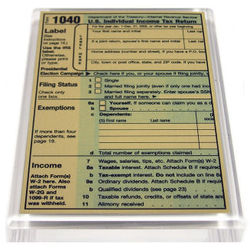 1040 Tax Form Paperweight