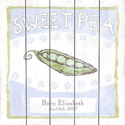 Personalized Sweet Pea Plaque