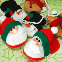 Christmas Slipper Ornament Set
