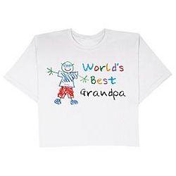 Personalized World's Best Grandpa T-Shirt