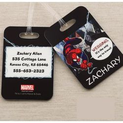 Personalized Spiderman Luggage Tag