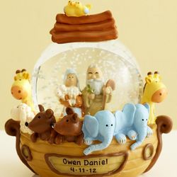 Personalized Noah's Ark Water Globe