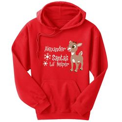 Personalized Rudolph Character Adult Hoodie