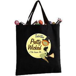 Personalized Pretty Wicked Halloween Tote