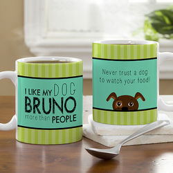 Personalized Dog Lover Small Coffee Mug
