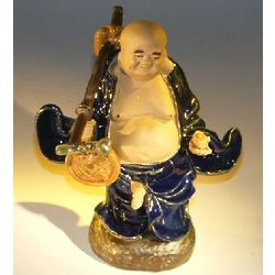Glazed Money Buddha Figurine