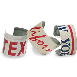 Recycled License Plate Cuff Bracelet