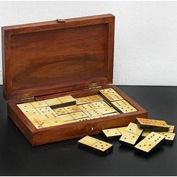 Colonial America Horn Domino Set