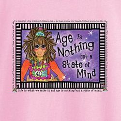 Age is Nothing Personalized Ladies T-Shirt