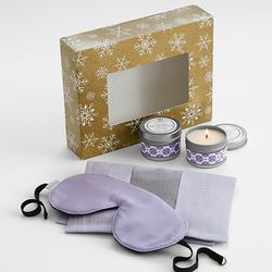 Lavender Scented Soy Candles and Relaxation Travel Set