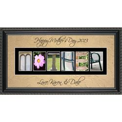Mother Personalized Photography Letter Framed Art Print