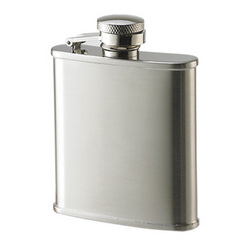 Matte Stainless Steel 2.5 oz. Flask