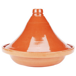 "Glazed 13"" Terra Cotta Tagine"