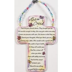 Teen Creed for Girls Ceramic Cross