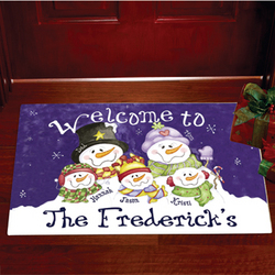 Personalized Welcome To.. Family Door Mat