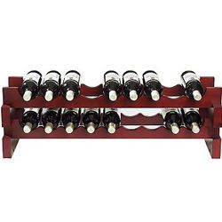 26 Bottle Stackable Wood Rack