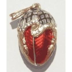 Enamel Faberge Style Egg Pendant Jewelry