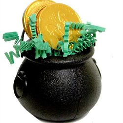 St. Patrick's Day Cauldron with Chocolate Coins