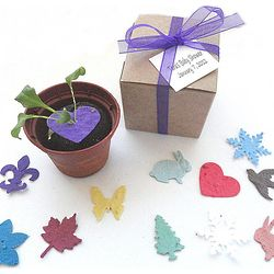 Personalized Seed Paper Confetti Garden Set Party Favors