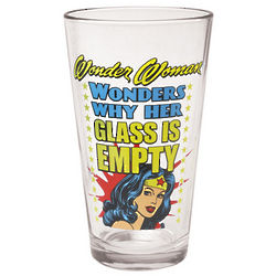 Wonder Woman Pint Glasses