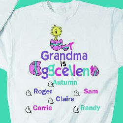Personalized Eggcellent Sweatshirt