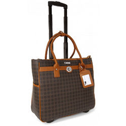 Women's Square Print Roller Briefcase